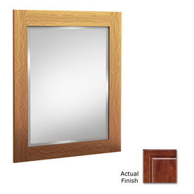 KraftMaid 24-in W x 30-in H Antique Chocolate with Mocha Glaze Rectangular Bathroom Mirror