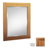 KraftMaid 30-in H x 24-in W Ginger Sable Glaze Rectangular Bathroom Mirror