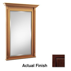 KraftMaid 36-in H x 24-in W Savoy Kaffe Rectangular Bathroom Mirror