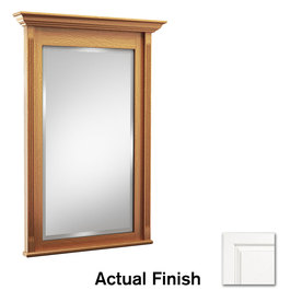 KraftMaid 36-in H x 24-in W Savoy Dove White Rectangular Bathroom Mirror