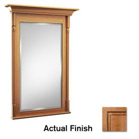 KraftMaid 24-in W x 36-in H Ginger with Sable Glaze Rectangular Bathroom Mirror