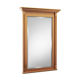 KraftMaid 36-in H x 30-in W Savoy Praline Rectangular Bathroom Mirror