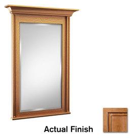 KraftMaid 30-in W x 36-in H Ginger with Sable Glaze Rectangular Bathroom Mirror