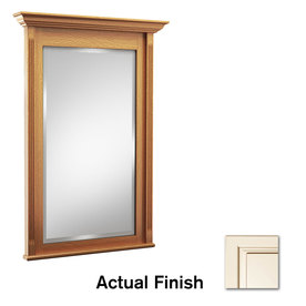KraftMaid 36-in H x 42-in W Savoy Canvas Cocoa Glaze Rectangular Bathroom Mirror