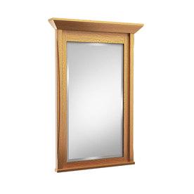 Shop kraftmaid 48 in w x 36 in h praline rectangular for Mirror 48 x 36