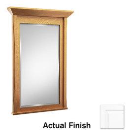 Shop kraftmaid 42 in w x 36 in h dove white rectangular for Mirror 42 x 36