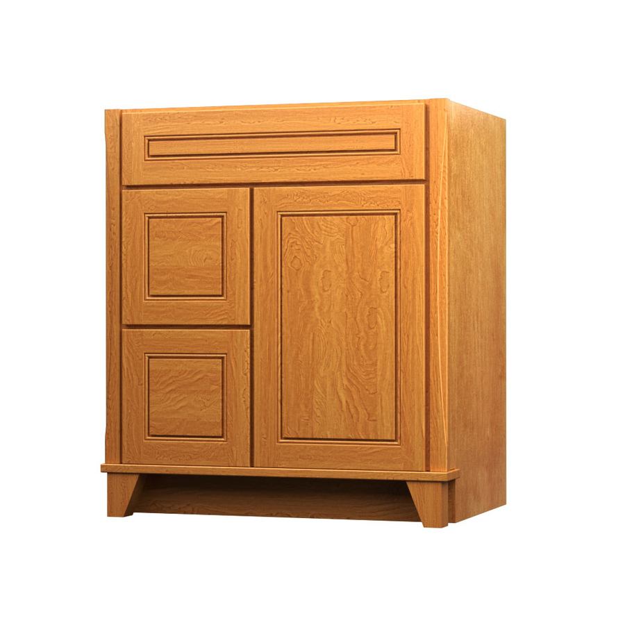 Shop Kraftmaid Tribecca Provence Praline Contemporary Maple Bathroom Vanity Common 30 In X 21