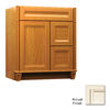 KraftMaid Key Biscayne Sonata Canvas with Cocoa Glaze Traditional Bathroom Vanity (Common: 30-in x 21-in; Actual: 30-in x 21-in)