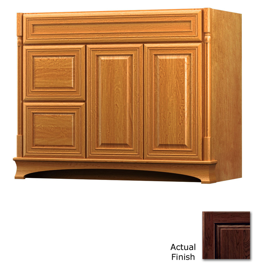 Shop kraftmaid chambord bartlett kaffe traditional cherry for Bathroom cabinets kraftmaid