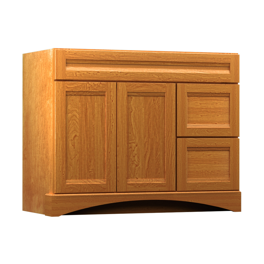 Shop Kraftmaid Summerfield Sonata Praline Casual Maple Bathroom Vanity Common 42 In X 21 In