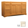 KraftMaid Summerfield Sonata Canvas with Cocoa Glaze Casual Bathroom Vanity (Common: 48-in x 21-in; Actual: 48-in x 21-in)