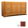 KraftMaid Savoy Montclair Antique Chocolate with Mocha Glaze Traditional Bathroom Vanity (Common: 60-in x 18-in; Actual: 60-in x 18-in)