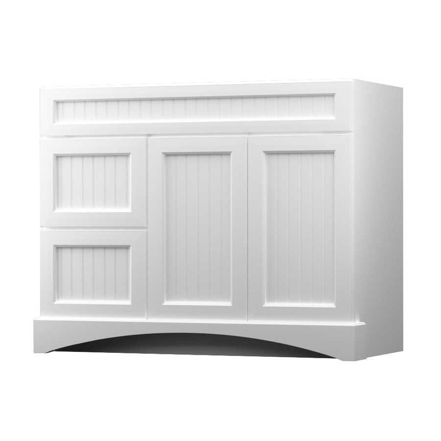 Shop kraftmaid summerfield nordic white casual bathroom for Bathroom cabinets kraftmaid