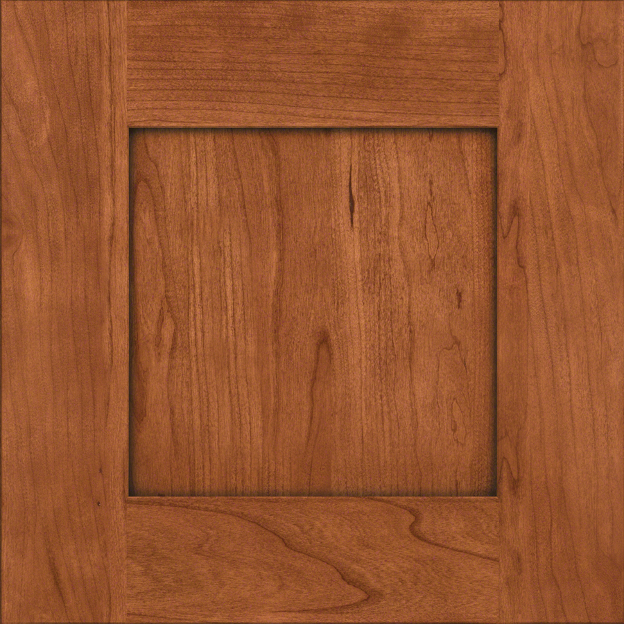 15 in x 15 in Cinnamon Cherry Square Cabinet Sample at Lowes com