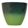 allen + roth 17.2-in x 14.45-in Turquoise Green Plastic Planter