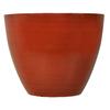 Garden Treasures 17.2-in x 14.45-in Red Plastic Planter