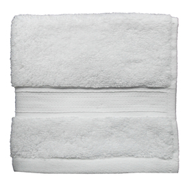 Style Selections 13-in x 13-in White Cotton Wash Cloth