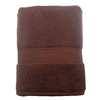 Style Selections 52-in x 30-in Chocolate Cotton Bath Towel