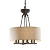 allen + roth 20-in W Oil-Rubbed Bronze Pendant Light with Fabric Shade