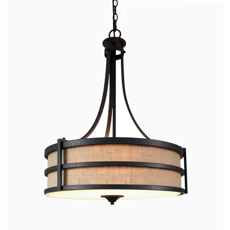 Shop Allen Roth 20 In W Textured Rustic Iron Standard