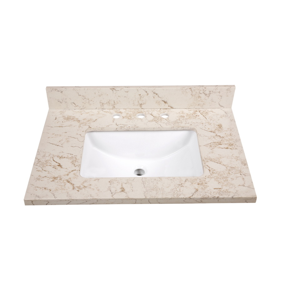 Vanity Top Common: 31in x 22in; Actual: 31in x 22in at Lowes.com