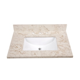 allen + roth 31-in W x 22-in D Eagle Giallo Quartz Vanity Top