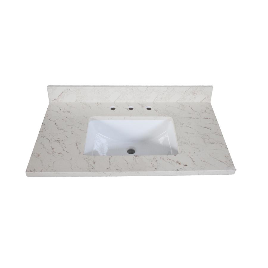 Roth Eagle Giallo Quartz Undermount Single Sink Bathroom Vanity Top