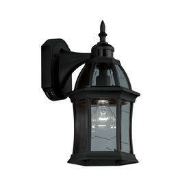 Portfolio 15.5-in H Black Motion Activated Outdoor Wall Light