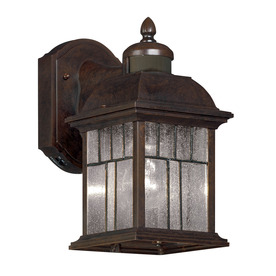 11 5 in h bronze motion activated outdoor wall light at. Black Bedroom Furniture Sets. Home Design Ideas