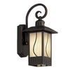 Portfolio 16-3/4-in Dark Oil-Rubbed Bronze Motion Activated Outdoor Wall Light ENERGY STAR