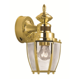 Display Product Reviews For 11.75 In H Polished Brass Motion Activated  Outdoor Wall Light