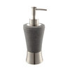 Style Selections Gray Resin with Brushed Nickel Accents Soap/Lotion Dispenser