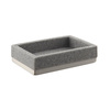 Style Selections Latimer Gray Resin Soap Dish