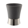 Style Selections Latimer Gray Resin with Brushed Nickel Accents Resin and Metal Wastebasket
