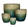 Garden Treasures 8-Pack 21.06-in x 20.47-in Blue/White Ceramic Planter
