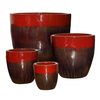 Garden Treasures 8-Pack 21.06-in x 20.47-in Red/Brown Ceramic Planter