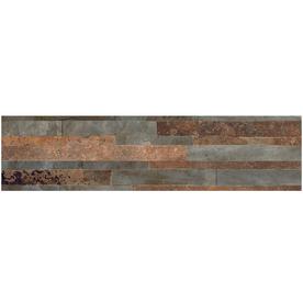StonePeak Ceramics Inc. Stone Logic Autumn Glazed Porcelain Indoor/Outdoor Wall Tile (Common: 6-in x 24-in; Actual: 5.79-in x 23.7-in)