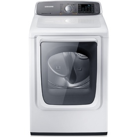 Samsung 7.4-cu ft Electric Dryer with Steam Cycles (White)