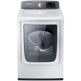 Samsung 7.4-cu ft Gas Dryer with Steam Cycles (White)