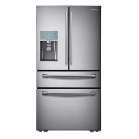Samsung 29.1-cu ft 4-Door French Door Refrigerator with Single Ice Maker (Stainless Steel) ENERGY STAR