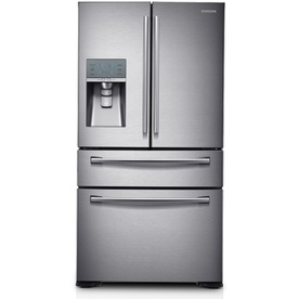 Samsung 31.12-cu ft 4-door French Door Refrigerator with Single Ice Maker (Stainless Steel) ENERGY STAR RF31FMEDBSR