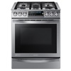Samsung Chef Collection 5-Burner 5.8-cu ft Slide-In Convection Gas Range (Stainless Steel) (Common: 30-in; Actual 30-in)