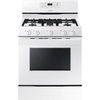 Samsung 5-Burner Freestanding 5.8-cu ft Gas Range (White) (Common: 30-in; Actual: 29.9375-in)