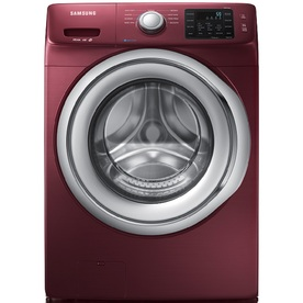 Samsung 4.2-cu ft High-Efficiency Stackable Front-Load Washer with Steam Cycle (Merlot)