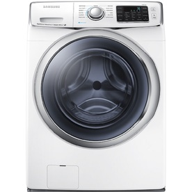 Samsung 4.5-cu ft High-Efficiency Stackable Front-Load Washer Steam Cycle (White) ENERGY STAR