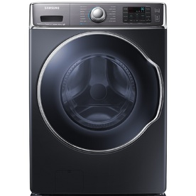 Samsung 5.6-cu ft High-Efficiency Stackable Front-Load Washer with Steam Cycle (Onyx) ENERGY STAR