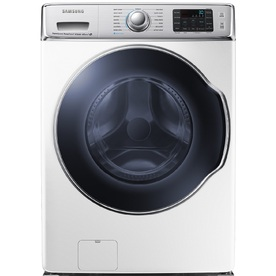 Samsung 5.6-cu ft High-Efficiency Stackable Front-Load Washer with Steam Cycle (White) ENERGY STAR