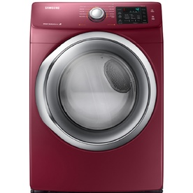 Samsung 7.5-cu ft Stackable Electric Dryer with Steam Cycles (Merlot)