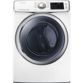 Samsung 7.5-cu ft Stackable Electric Dryer with Steam Cycles (White)
