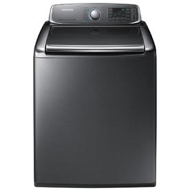 Samsung 5.6-cu ft High-Efficiency Top-Load Washer with Steam Cycle (Platinum) ENERGY STAR